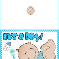 5 Images of It's A Boy Printable Cards