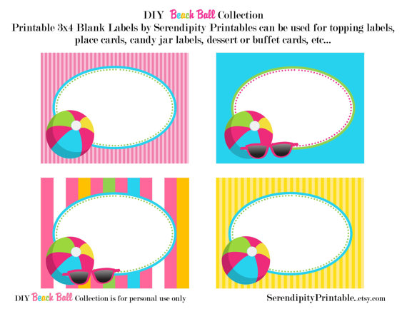 It is a picture of Have a Ball This Summer Printable with etsy
