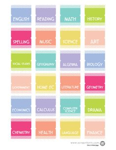 6 Images of Printable Divider Tabs For School