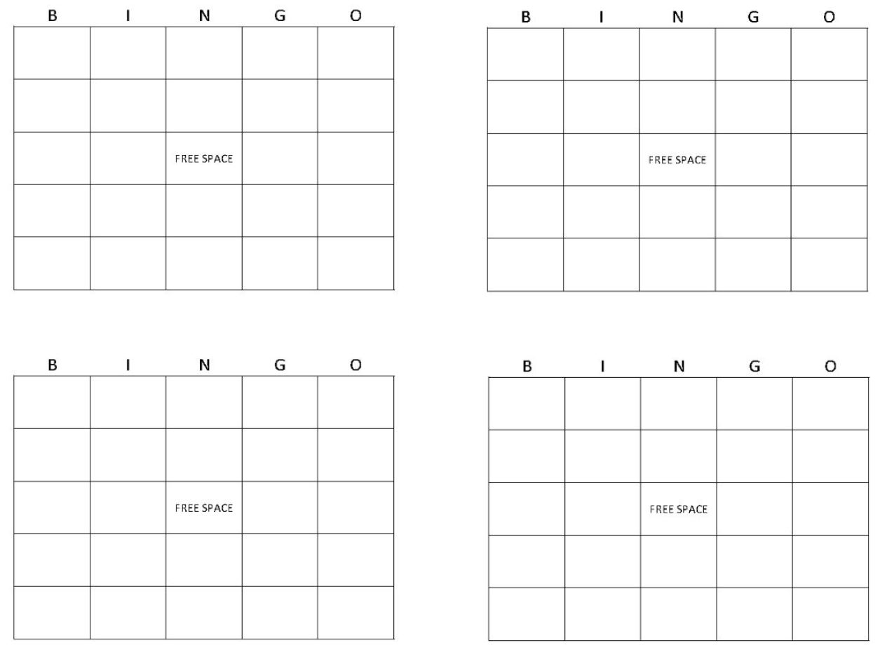 6 best images of 4x4 blank bingo cards printable 4x4 for 4x4 bingo template
