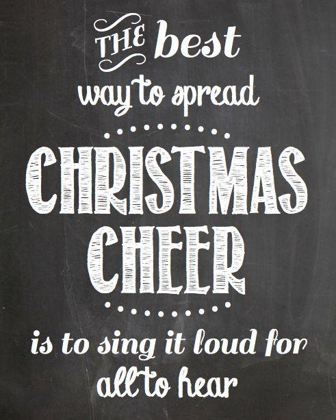 Free Printable Christmas Cheer Chalkboard