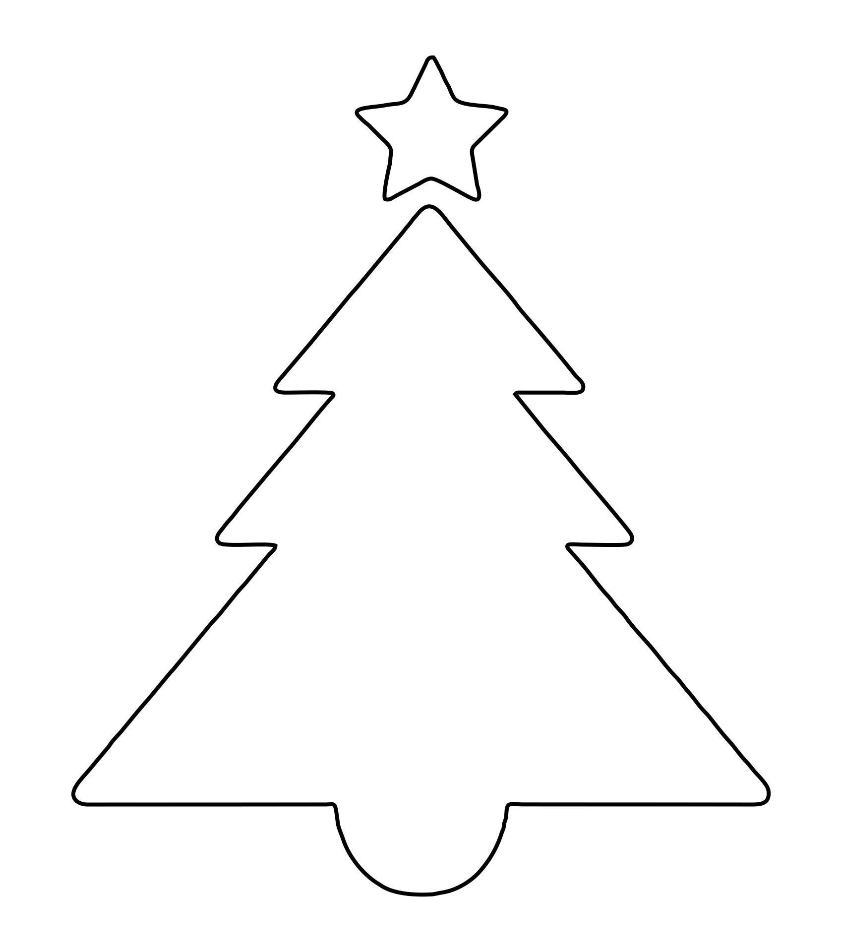 Printable Christmas Tree Stencils
