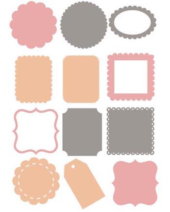 4 Images of Printable Die Cut Shapes