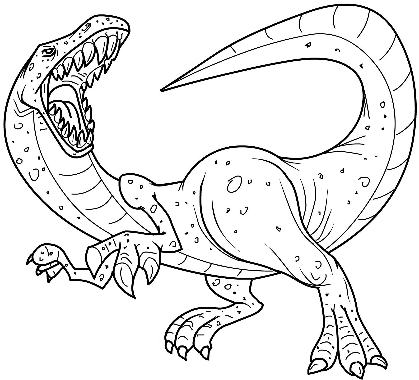 4 Images of Dinosaurs Kids Coloring Pages Free Printables