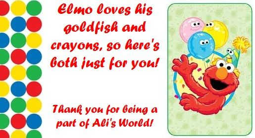7 Images of Printable Elmo Thank You Tags