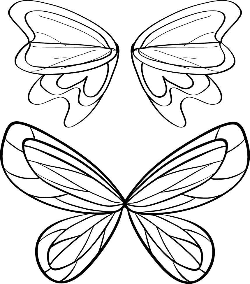 Printable Fairy Wings