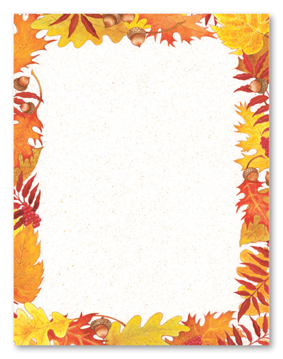 8 Best Images Of Free Printable Fall Leaf Borders