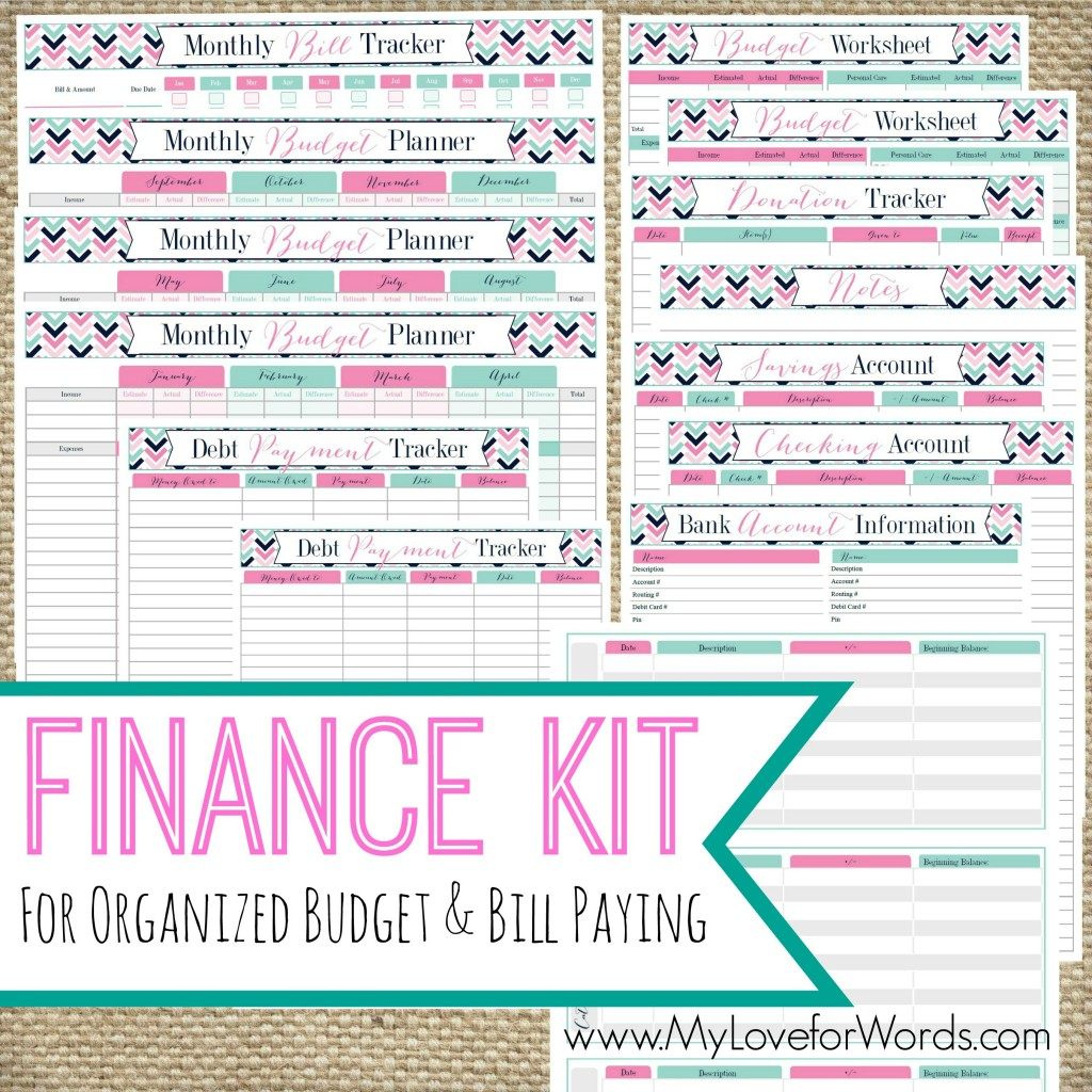 7 best images of home finance organizer printable for Home finance bill organizer template