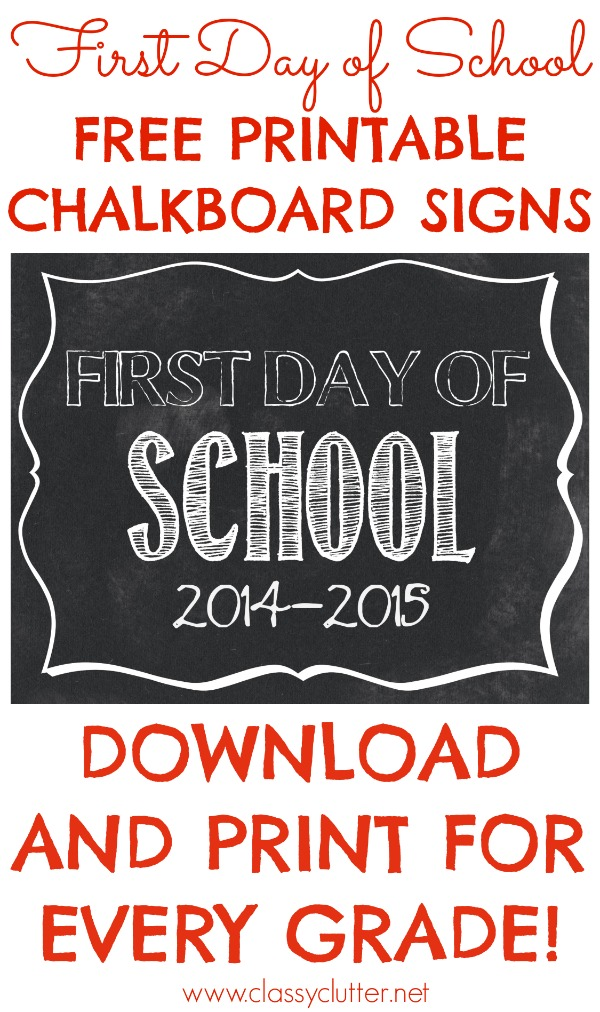 9 Images of First Day Of School Printable Signs