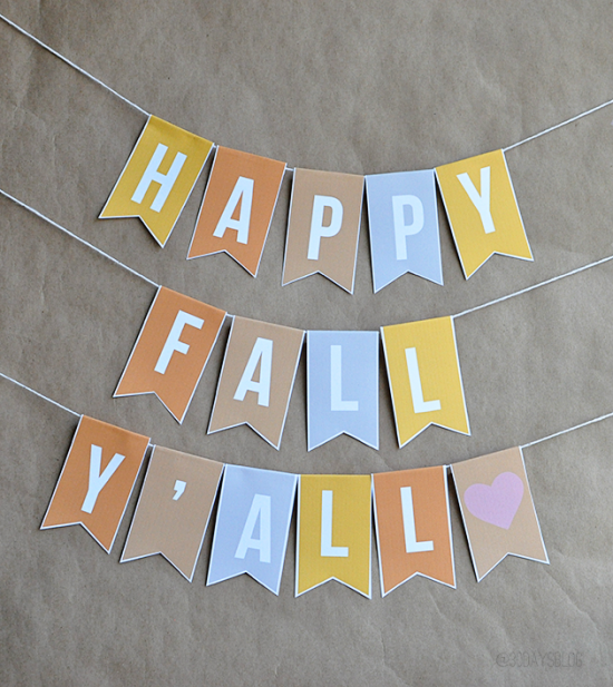 6 Images of Free Printable Fall Banner