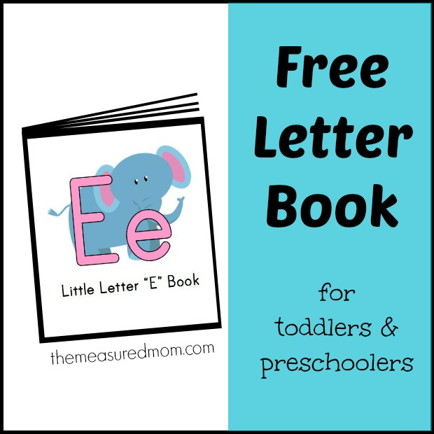 6 Images of Letter E Book Printable