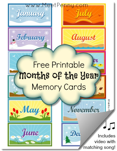 6 Images of Free Printable Months Of The Year
