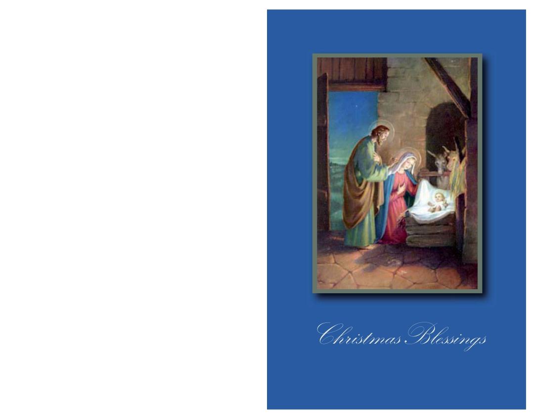 Printable Religious Christmas Cards