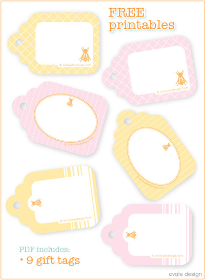 6 Images of Summer Printable Gift Tags Templates