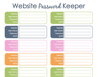 free password template