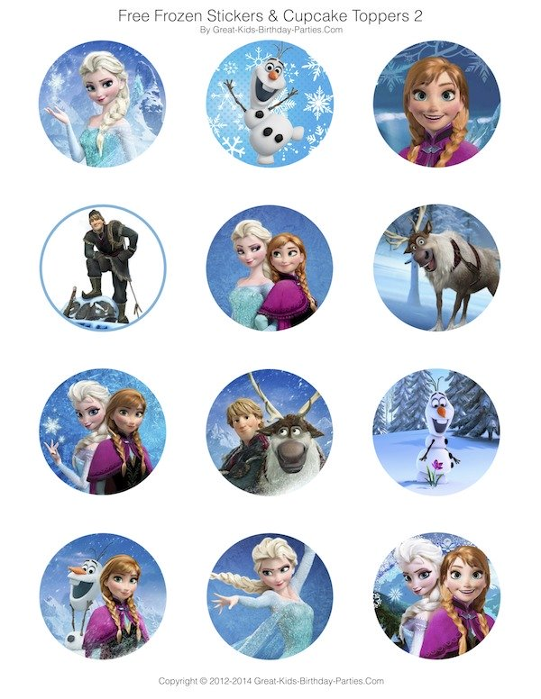 5 Images of Frozen Cupcake Printables Free