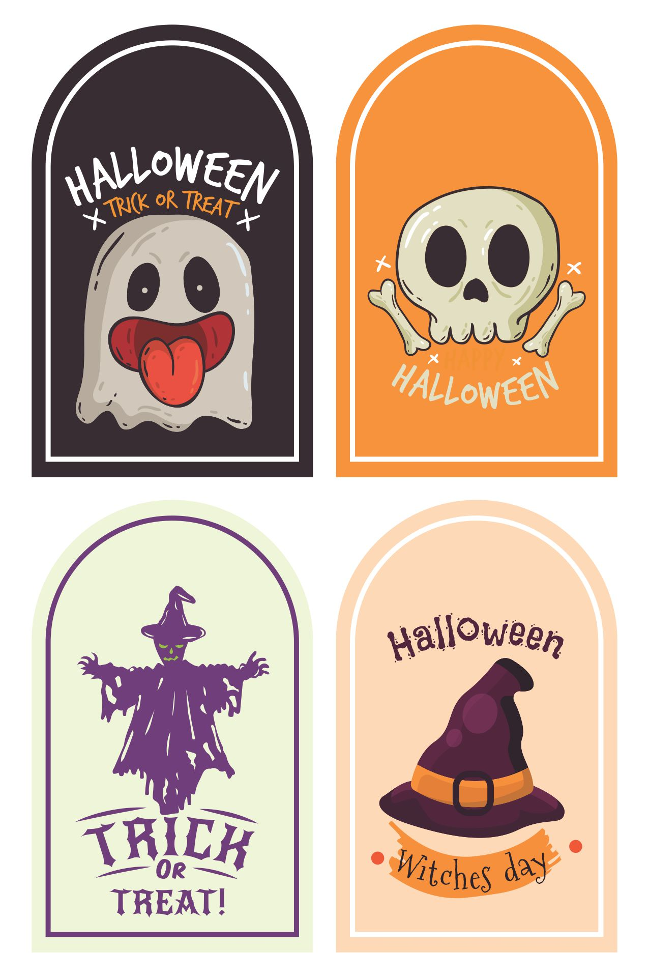 6 Images of Free Printable Happy Halloween Tags
