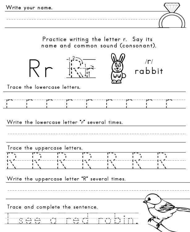 6 Best Images of Printable Tracing Worksheets Letter R - Letter R ...