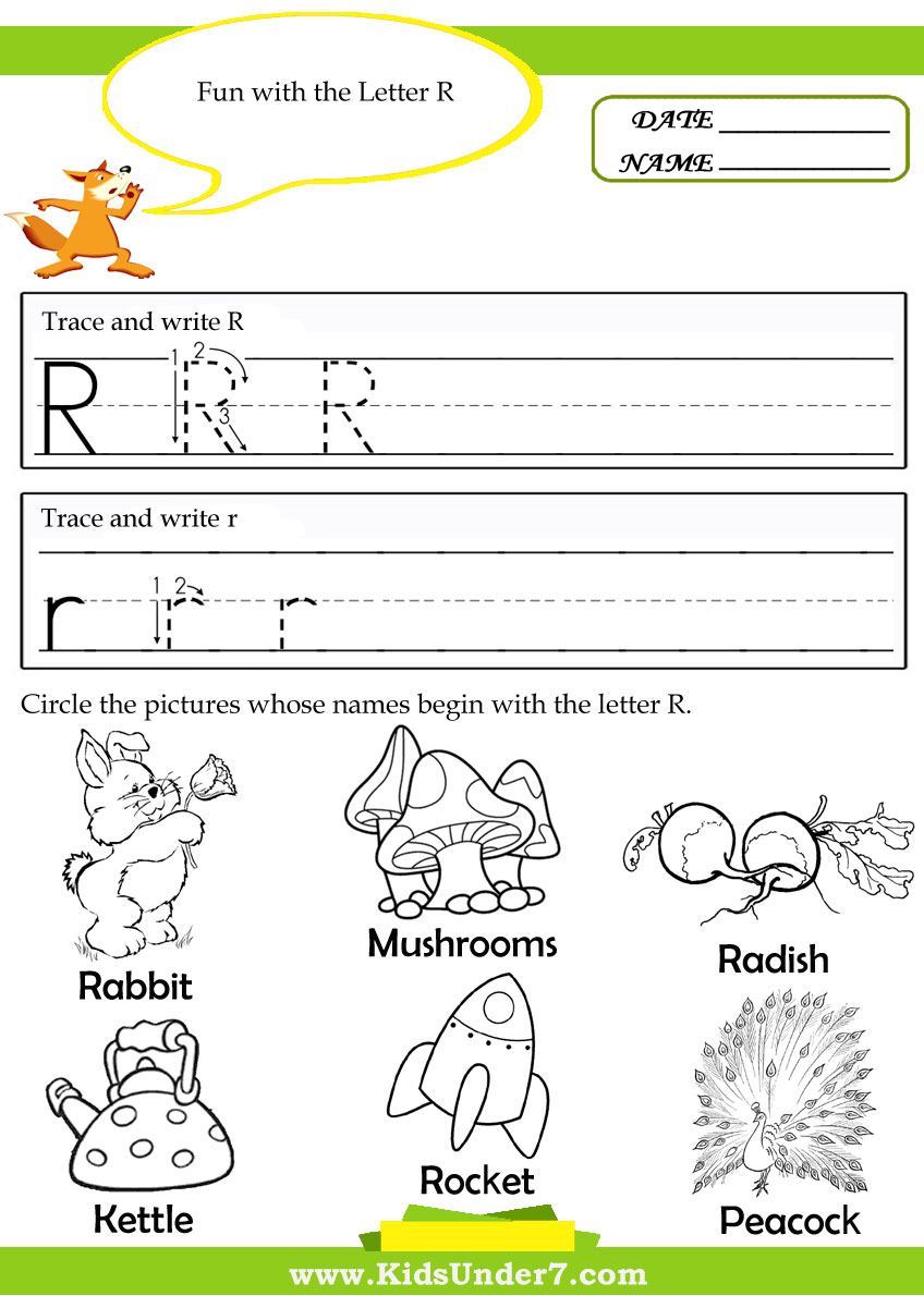 Worksheet Letter R Worksheets 6 best images of printable tracing worksheets letter r preschool
