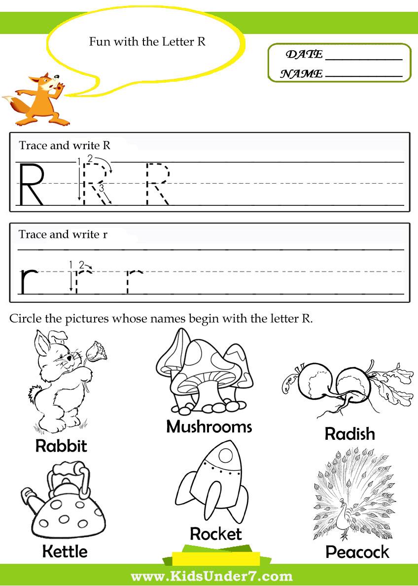 6 Best Images of Printable Tracing Worksheets Letter R ...
