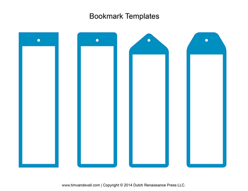 7 Images of Make Your Own Printable Bookmark