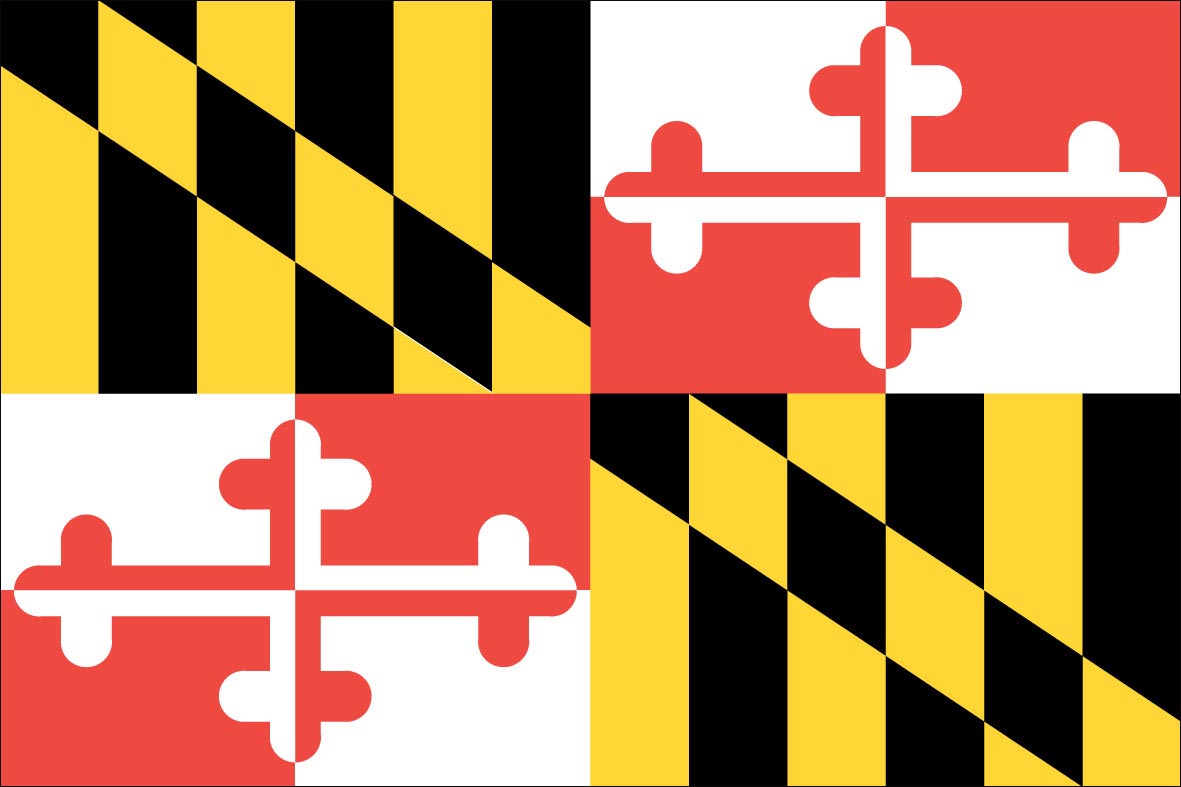 4 Images of Maryland State Flag Printable