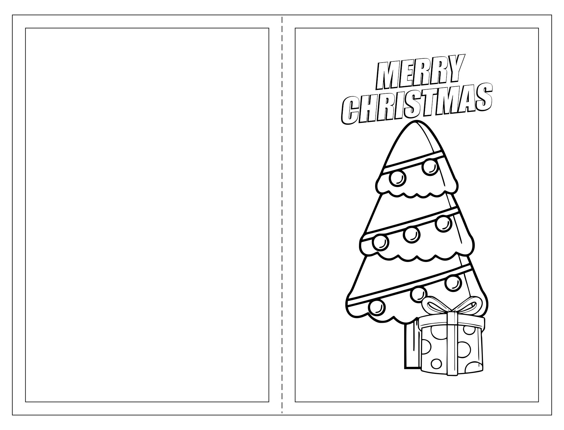 6 Images of Free Printable Christmas Cards You Can Color