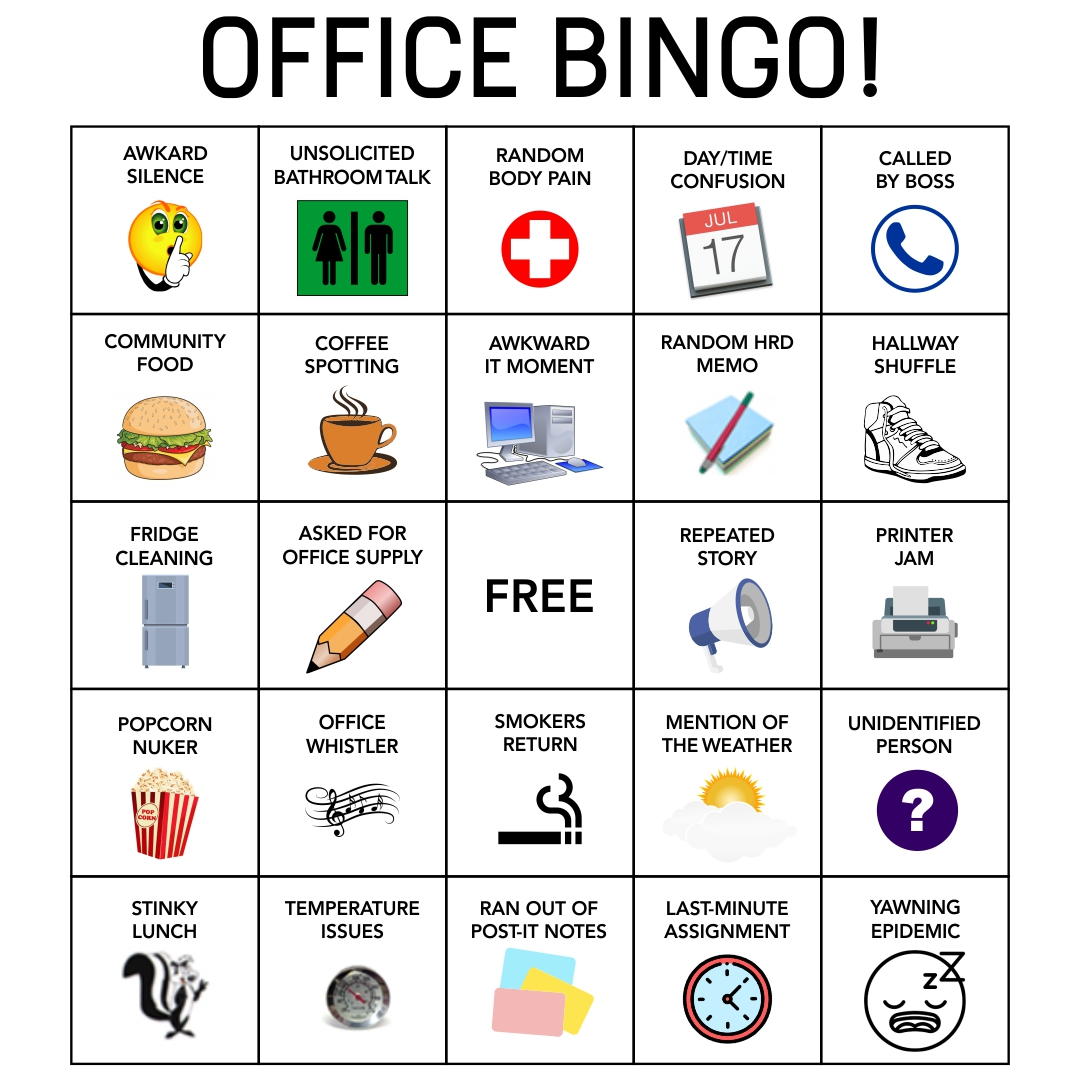 playing bingo at work
