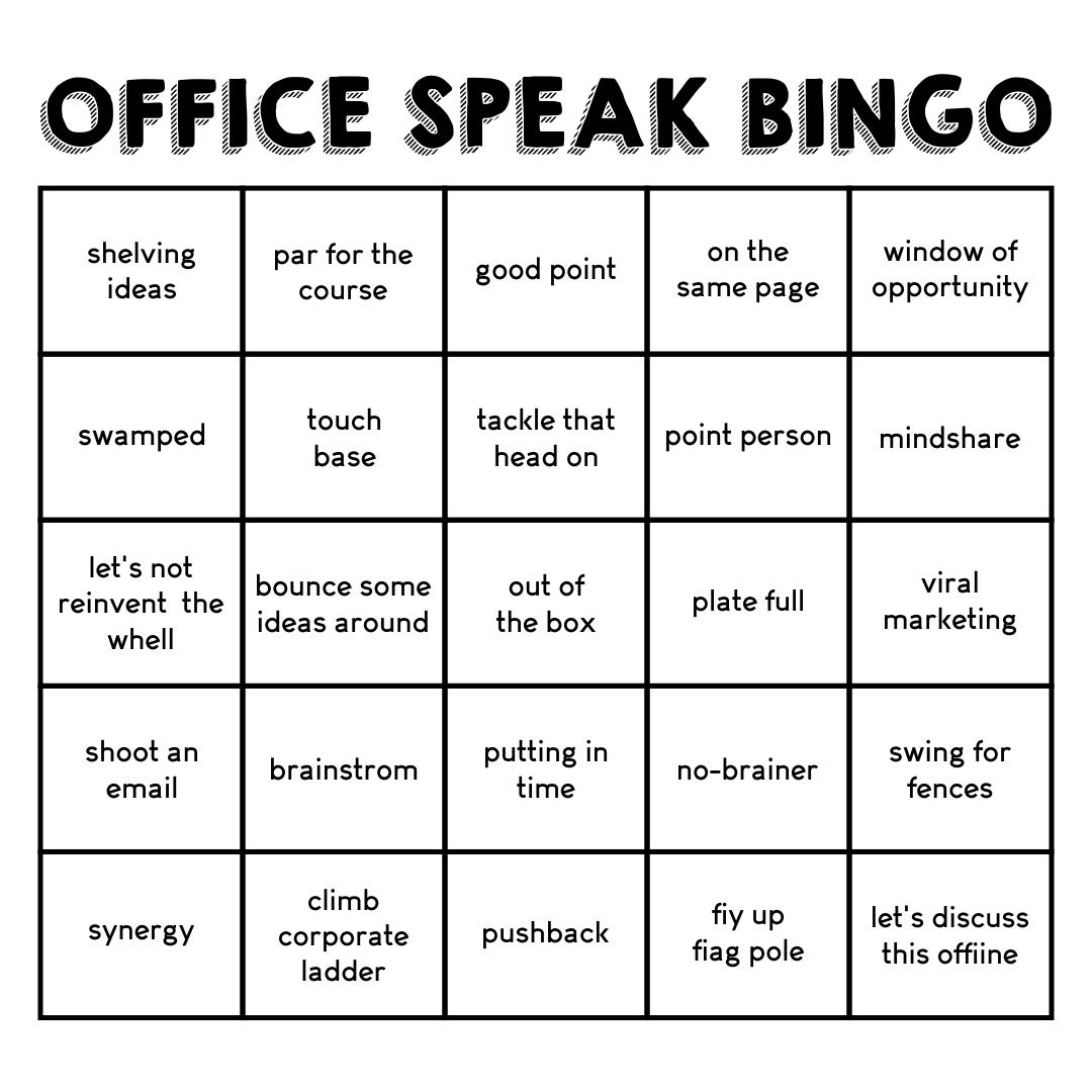 Office Bingo Template
