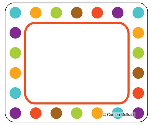 4 Best Images Of Printable Polka Dot Borders Blue Border Free Black And White
