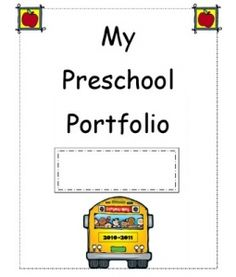 6 Images of Preschool Portfolio Printables