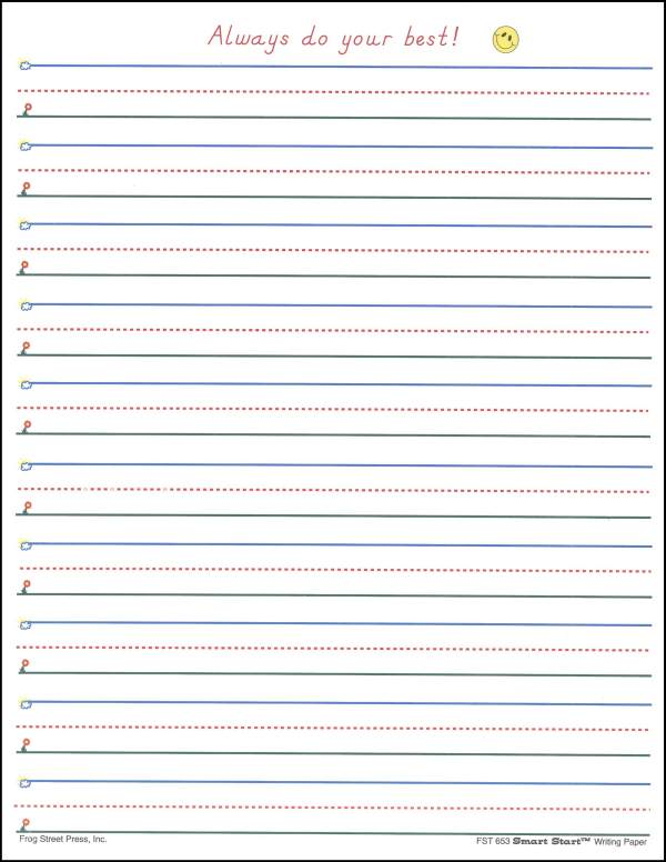 Handwriting Sheets For First Grade Blank - free lined ...