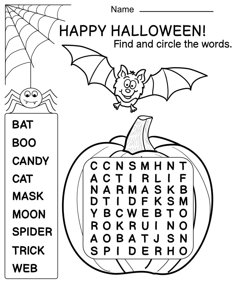 11 Best Images of Fun Free Printable Halloween Worksheets - Free ...