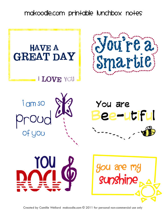 4 Images of Free Printables Lunch Box Notes For Husband