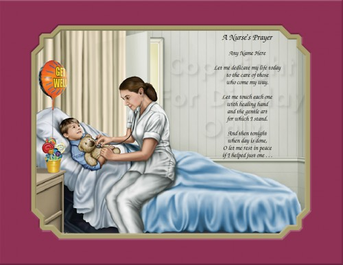 Printable Nurse Poems Prayer