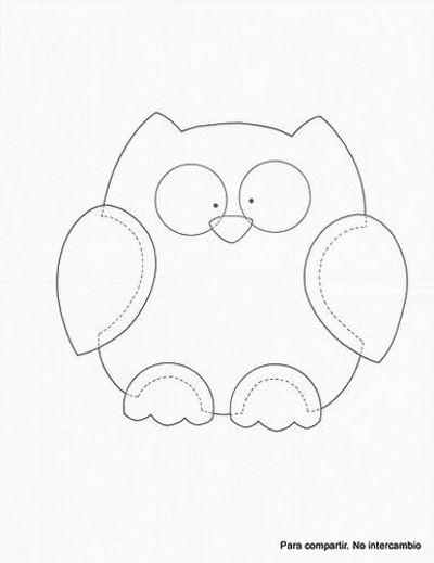 Owl template printable martha stewart - photo#4