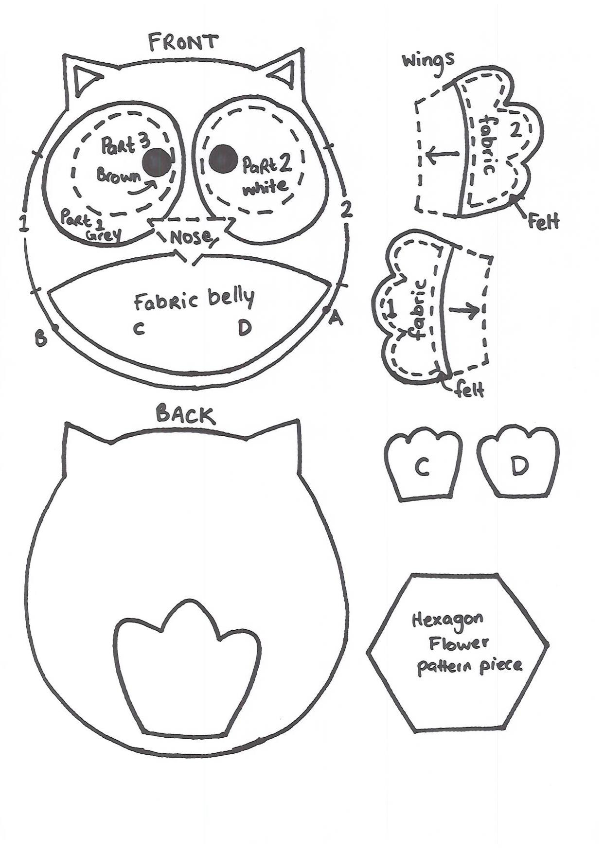 Owl template printable martha stewart - photo#1