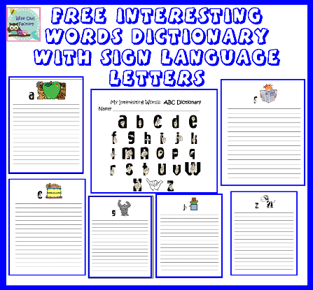 5 Images of Printable Sign Language Word Dictionary