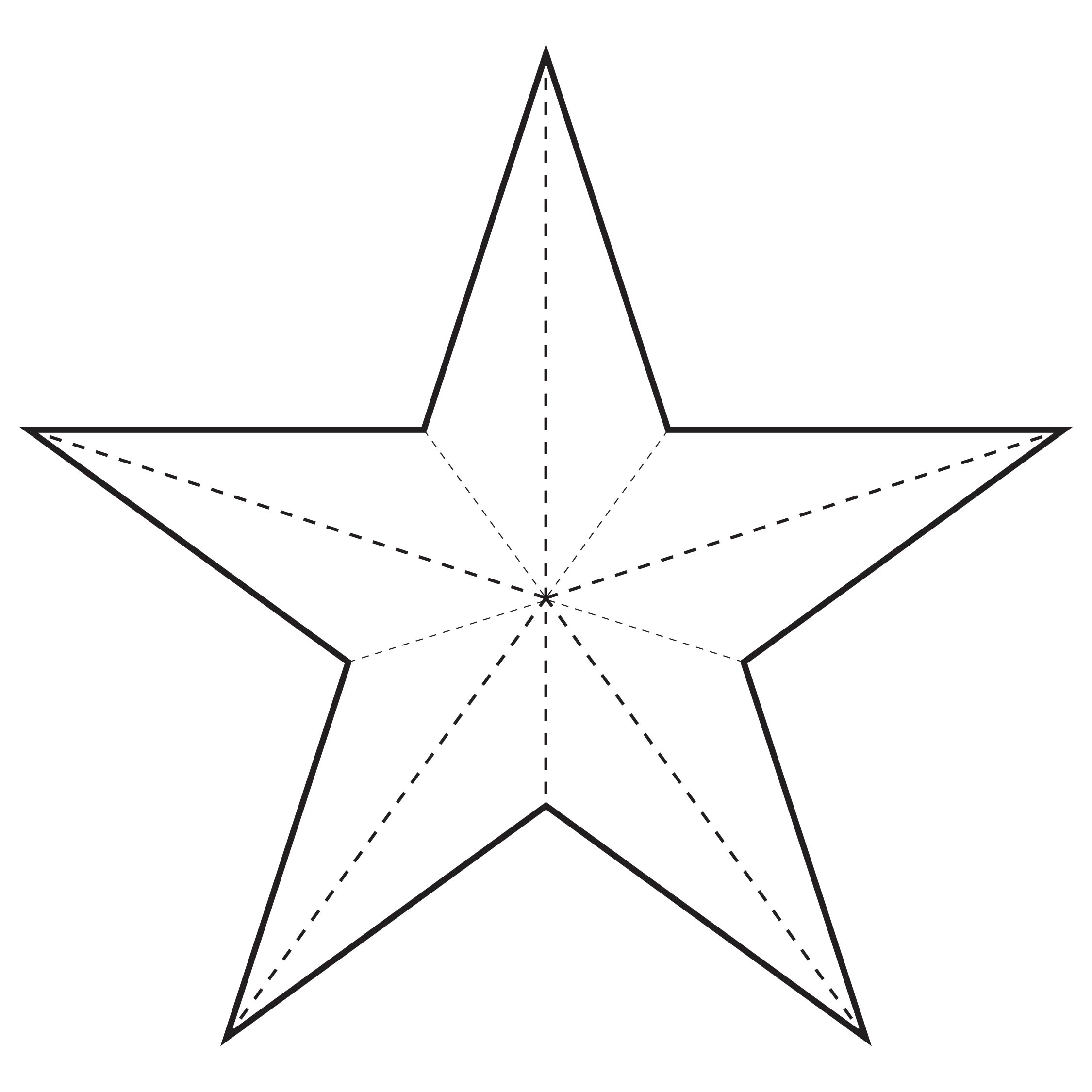 4 Images of Christmas Star Template Printable