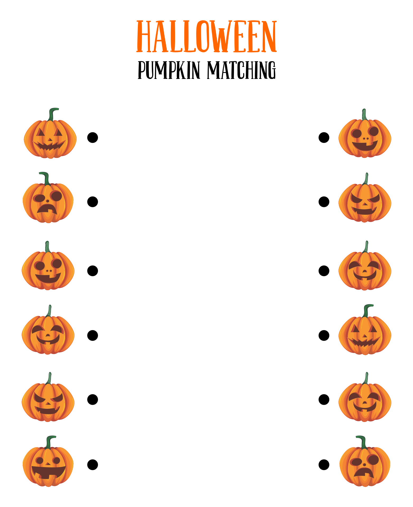4 Images of Printable Halloween Matching Game For Toddlers