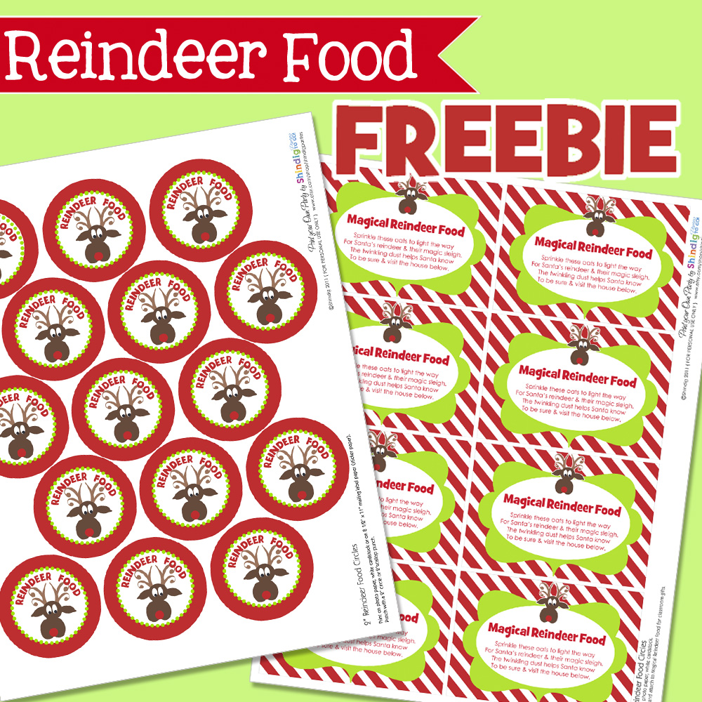 6 Images of Reindeer Food Printable Baggies