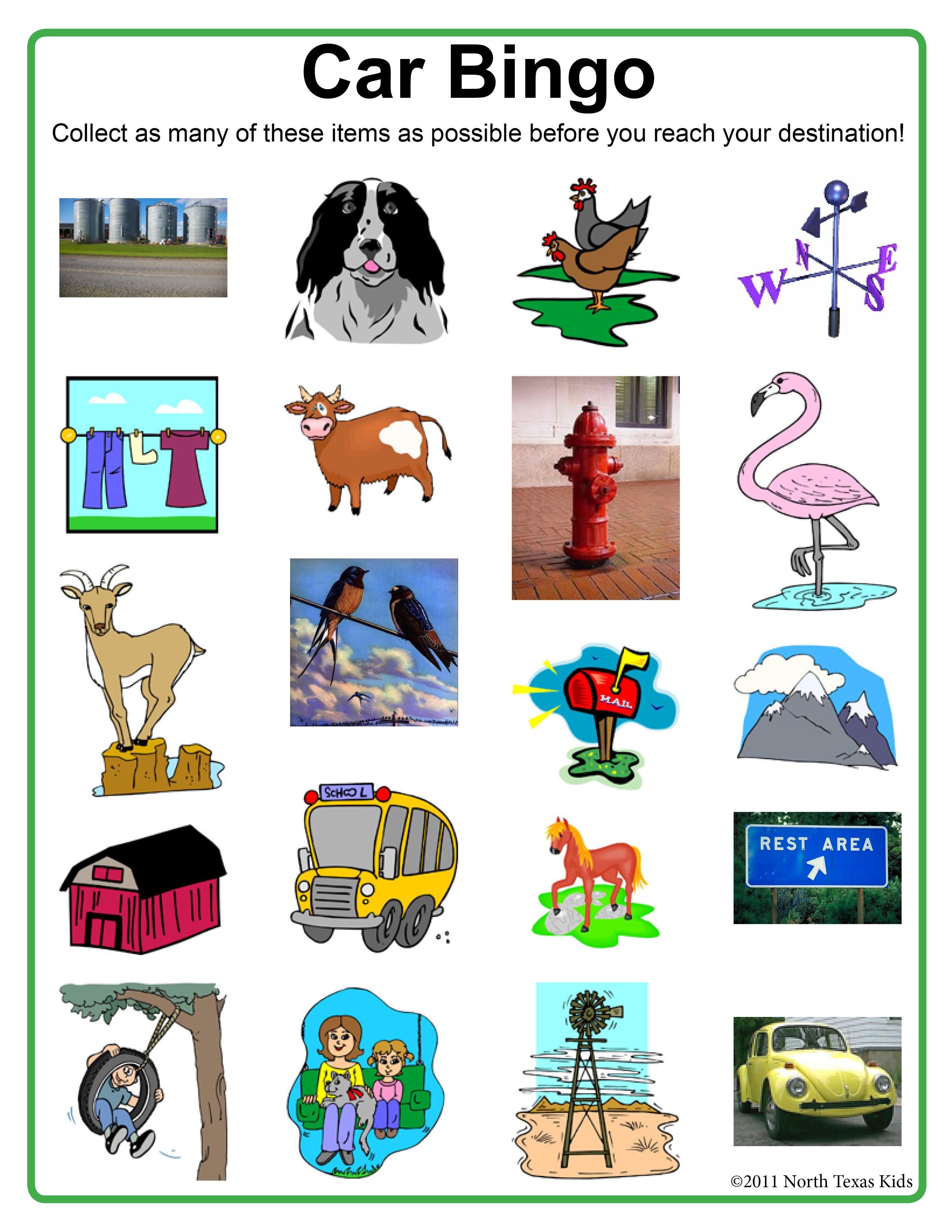 4 Images of Car Brand Bingo Games Printable
