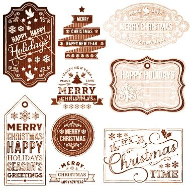 6 Images of Free Rustic Printable Christmas Labels