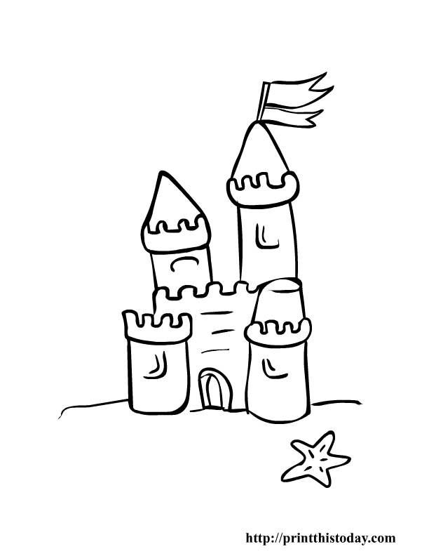 4 Images of Free Printable Beach Castle
