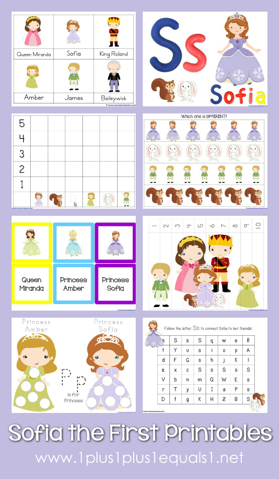 8 Images of Sofia The First Printables