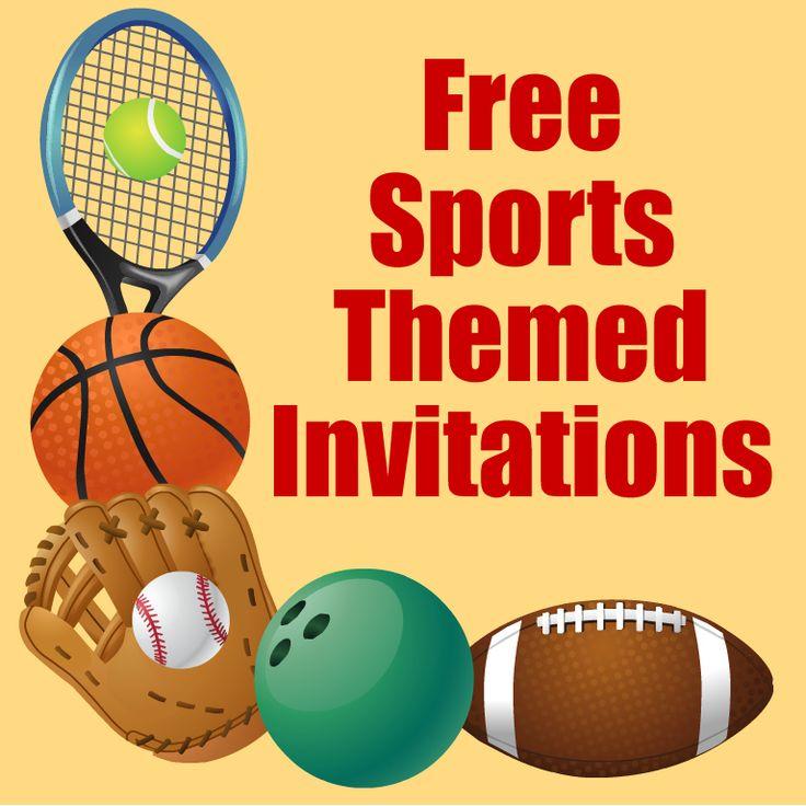Sports Birthday Party Invitation Template