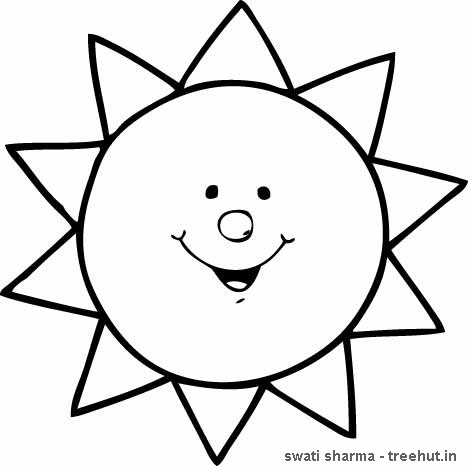 5 Images of Free Printable Sun
