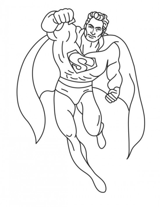 5 Images of Super Heroes Coloring Pages Free Printable