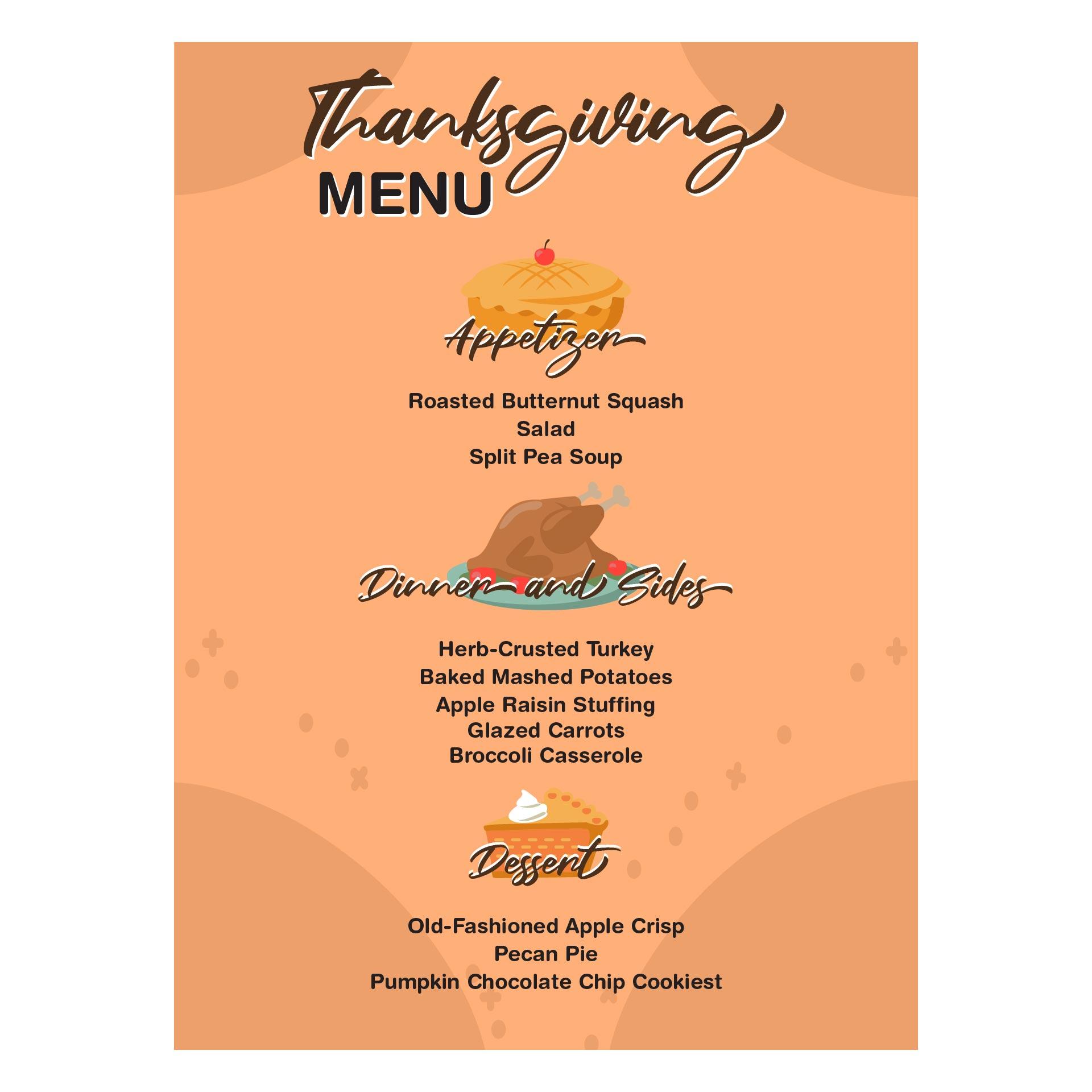 9 Images of Thanksgiving Menu Card Printable Templates