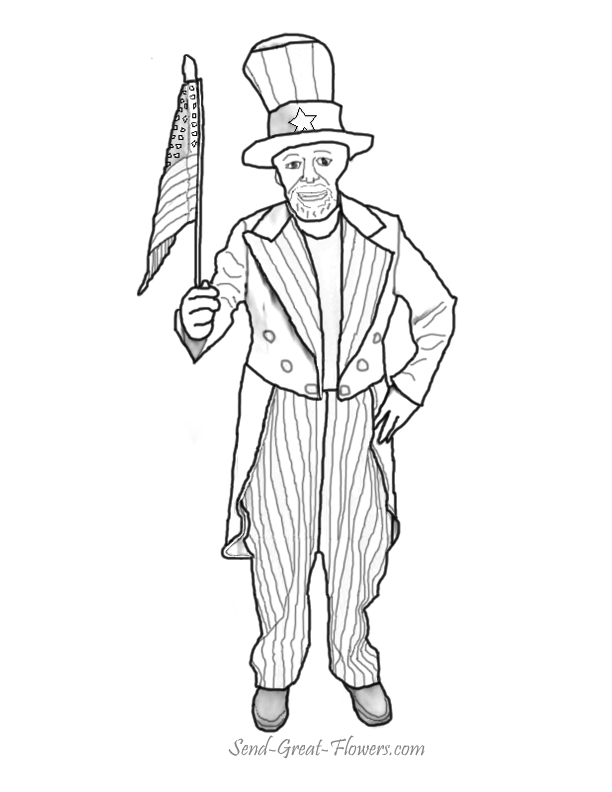 7 best images of printable picture of uncle sam uncle for Uncle coloring pages